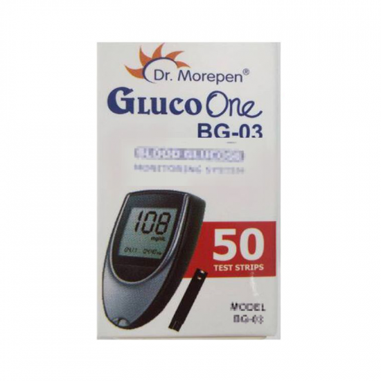 Dr Morepen BG 03 Gluco One 50 Blood Glucose Test Strips with 100 Lancets