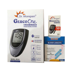 Dr Morepen Combo Pack of BG-03 Glucose Meter, 50 Test Strips and 100 Lancets