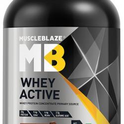 MuscleBlaze Chocolate Whey Active Powder