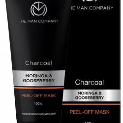 The Man Company Charcoal Peel Off Mask Moringa & Gooseberry