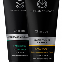 The Man Company Combo Pack of Charcoal Face Wash 100ml &  Charcoal Face Scrub 100gm