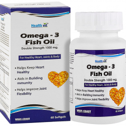 HealthVit Omega-3 Fish Oil 1000mg Softgels